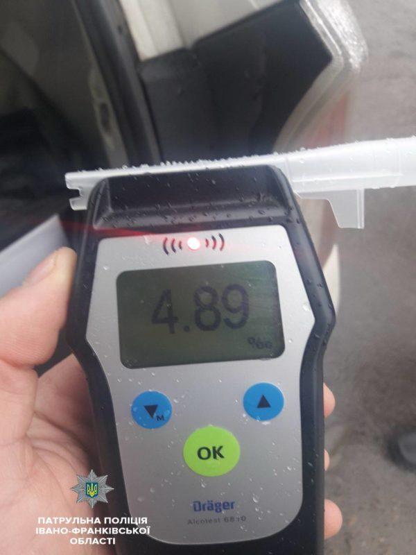 Смертельну дозу алкоголю виявили патрульні у крові водія, який вчинив ДТП у Франківську