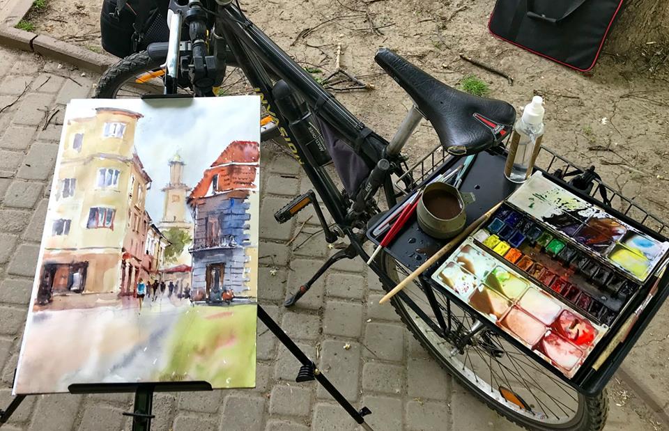 Як художники з різних куточків світу малюють міські пейзажі Івано-Франківська (фоторепортаж)