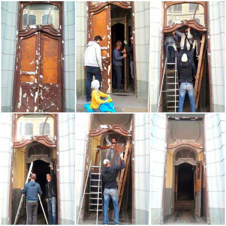 На Мазепи відреставрують одразу троє дверей (фотофакт)
