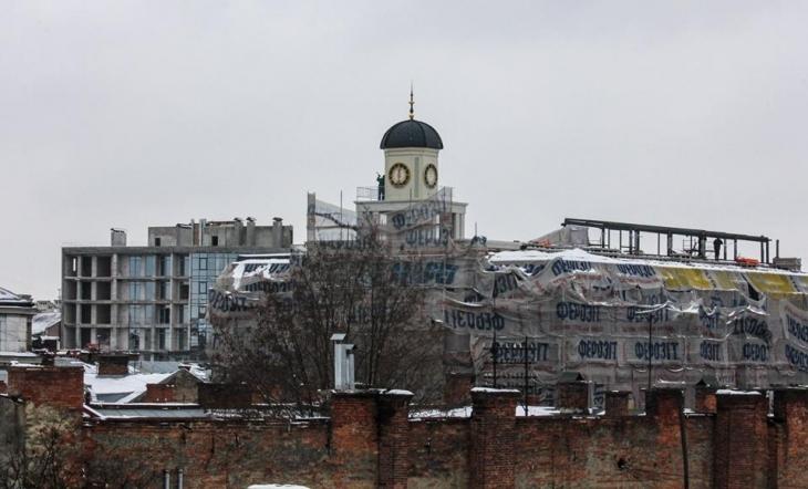 Працівники ДАБІ не змогли перевірити законність будівництва вежі-бельведер (відеосюжет)