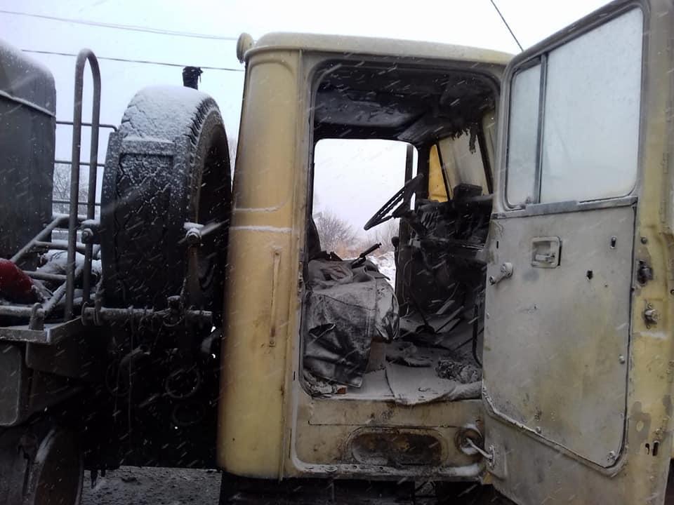В Івано-Франківській області горіла вантажівка (фото)