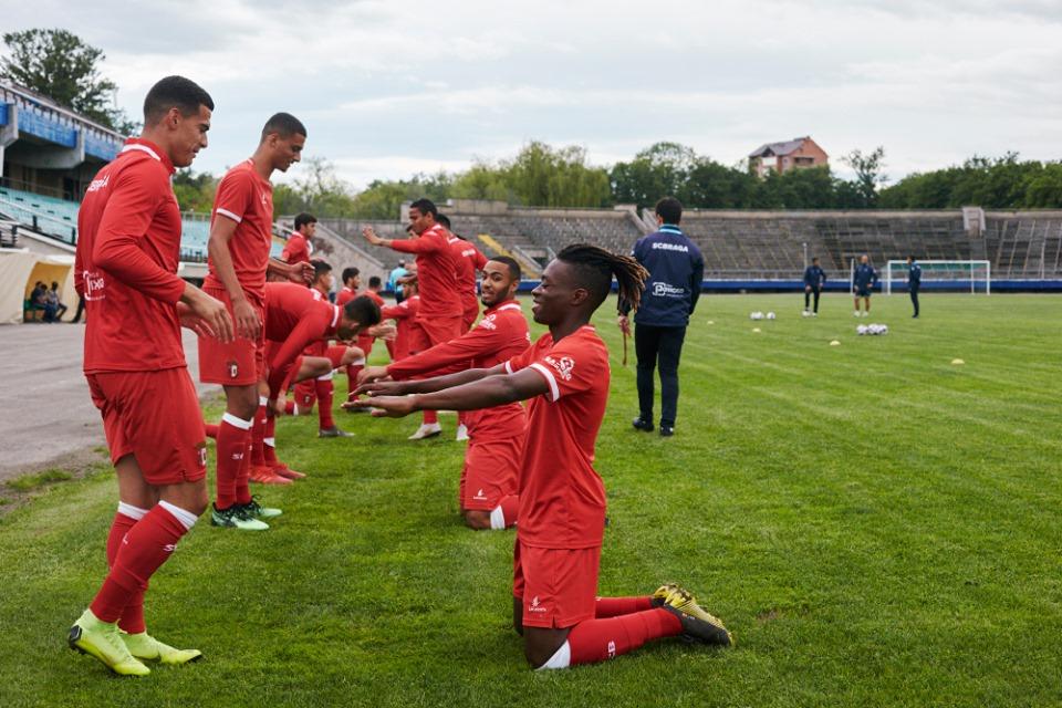 """Футболісти """"Браги"""" провели передматчеве тренування на стадіоні """"Рух"""" (фоторепортаж)"""