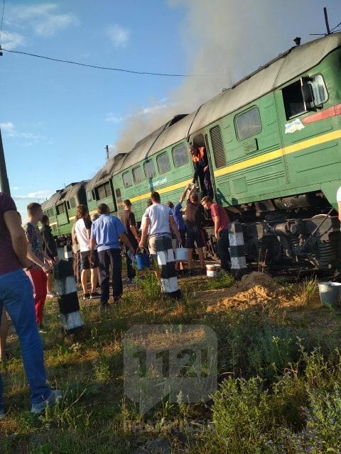 Сталася пожежа на поїзді Ворохта – Київ. ФОТО, фото-1